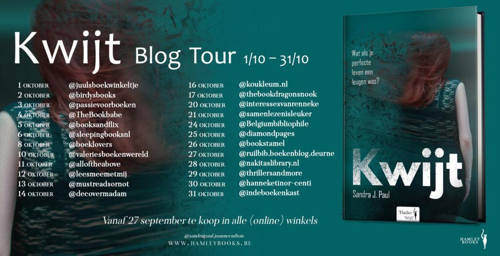 BlogTour Kwijt Sandra J Paul