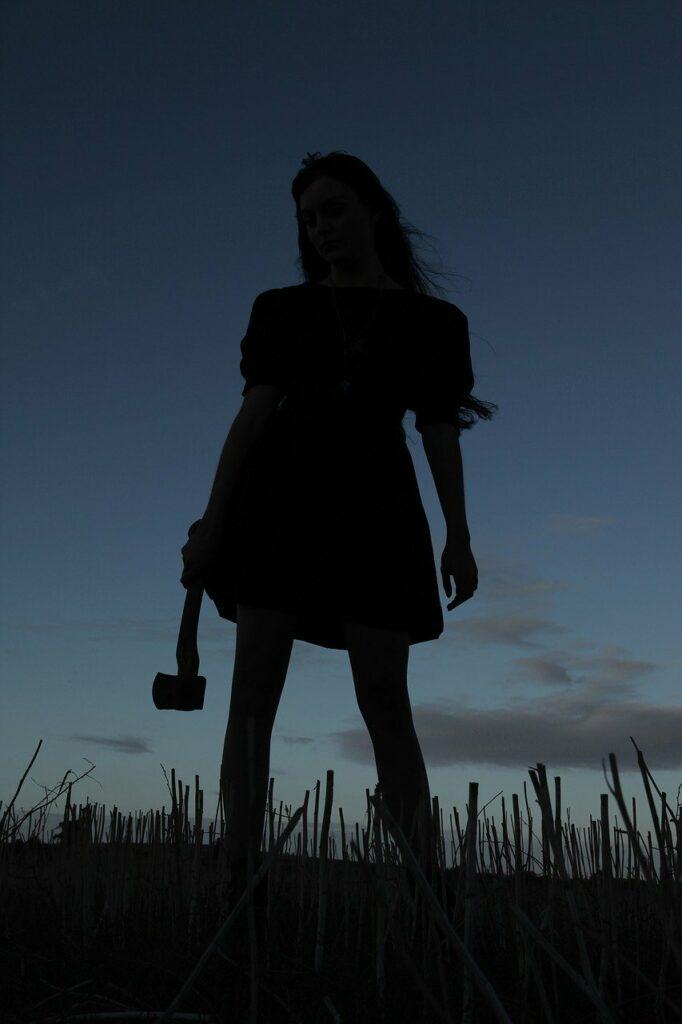 axe, murderer, silhouette