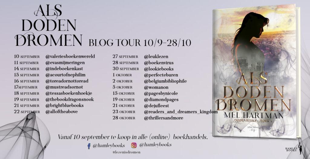 Blog tour - Als doden dromen - Mel Hartman - Hamley Books
