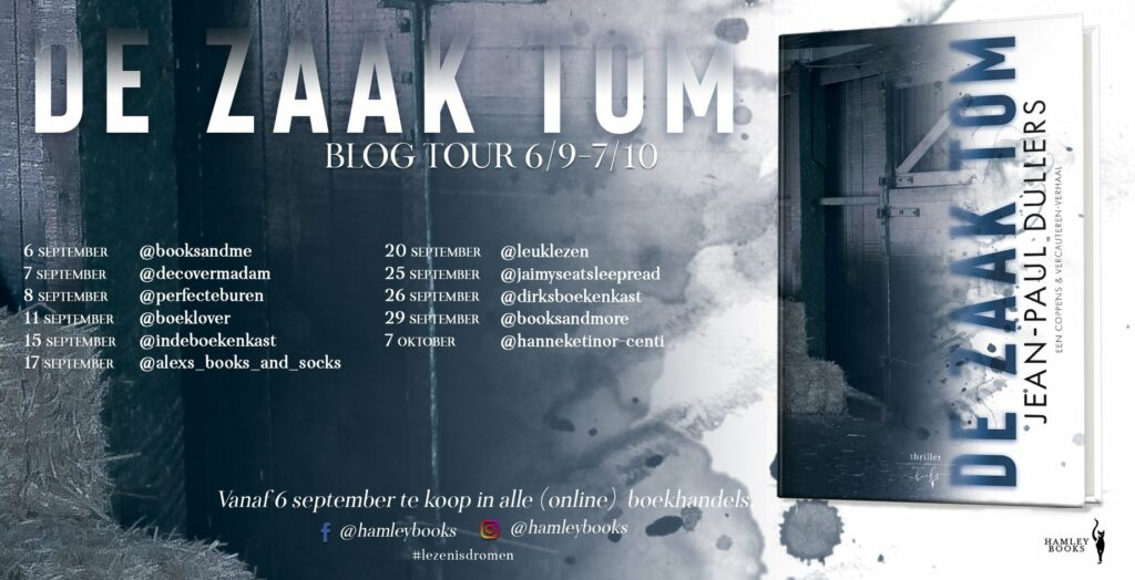 Blogtour De zaak Tom Jean-Paul Dullers - HamleyBooks