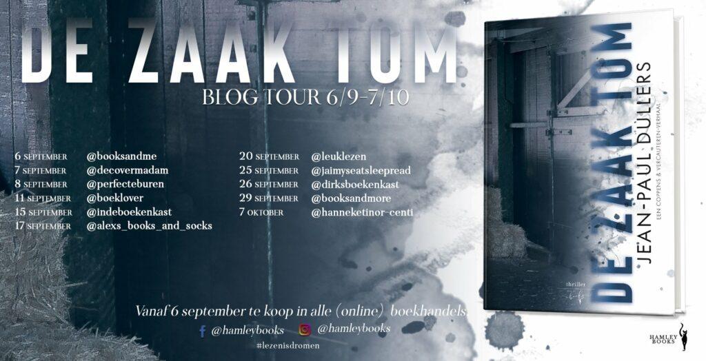Blogtour De zaak Tom Jean-Paul Dullers - HamleyBooks