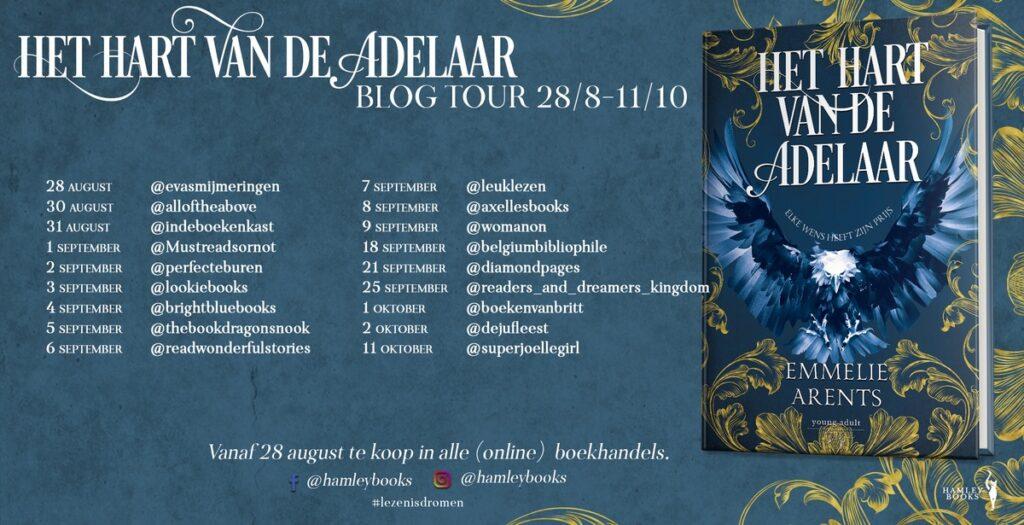 Blogtour Hart van de adelaar Emmelie Arents - HamleyBooks
