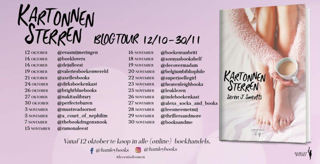 Blogtour - Kartonnen sterren - Seren j smedts - Hamley Books
