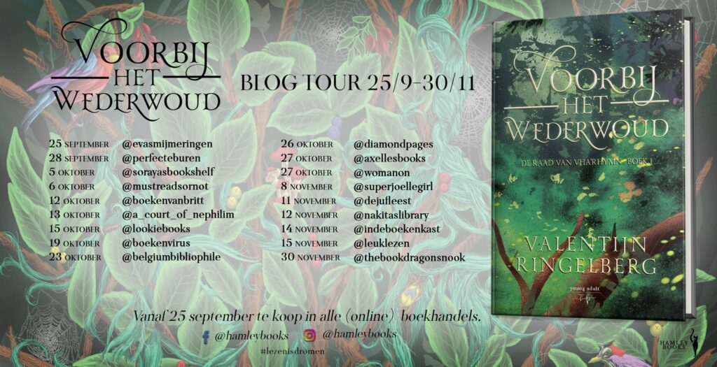 Blog tour - Voorbij het wederwoud - Valentijn Ringelberg - Hamley Books