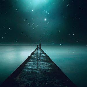 landscape, fantasy, night